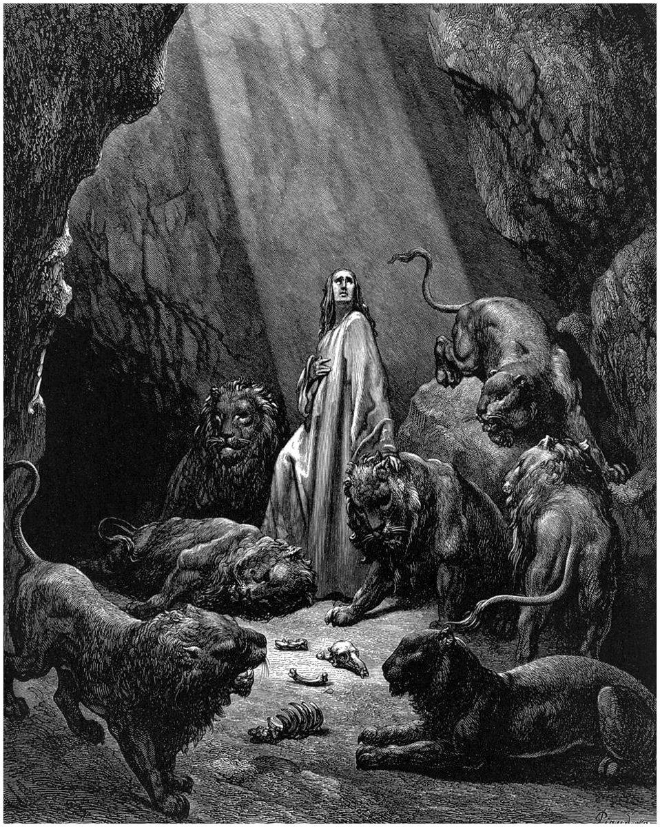7,5 cm x 5 cm Gustave Dore la Biblia llavero Daniel en el ...