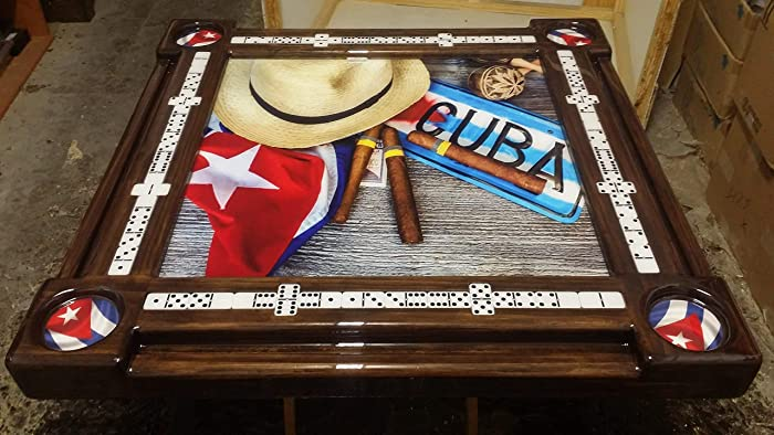 Admirable Cuban Life Collage Domino Table By Domino Tables By Art Home Interior And Landscaping Ologienasavecom