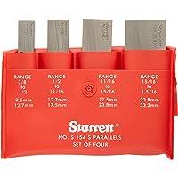 "Starrett S154SZZ- Juego de paralelas ajustables, 3/8"" –"