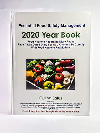 2019 Year Book Food Hygiene Record Page A Day Diary