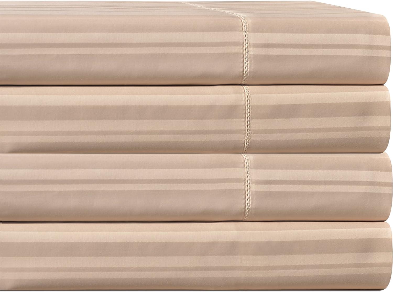 Wamsutta California King CK Fitted Sheet 400 TC 100/% Combed Pima Cotton Tan