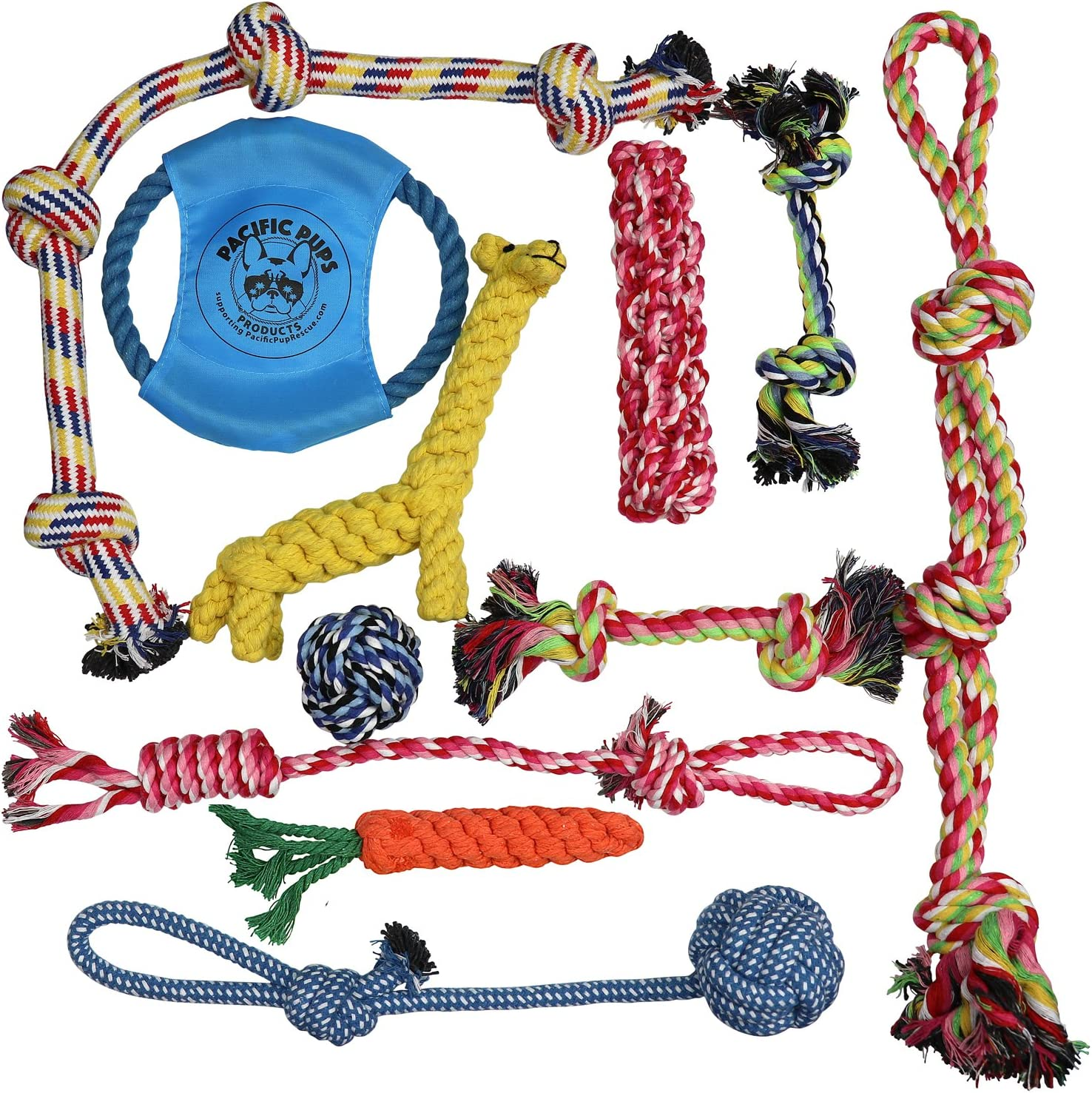 11 Piece Dog Rope Toys