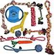 Pacific Pups Products Dog Rope Toys for Aggressive Chewers - Set of 11 Nearly Indestructible Dog Toys - Bonus Giraffe Rope Toy - Benefits NONPROFIT Dog Rescue