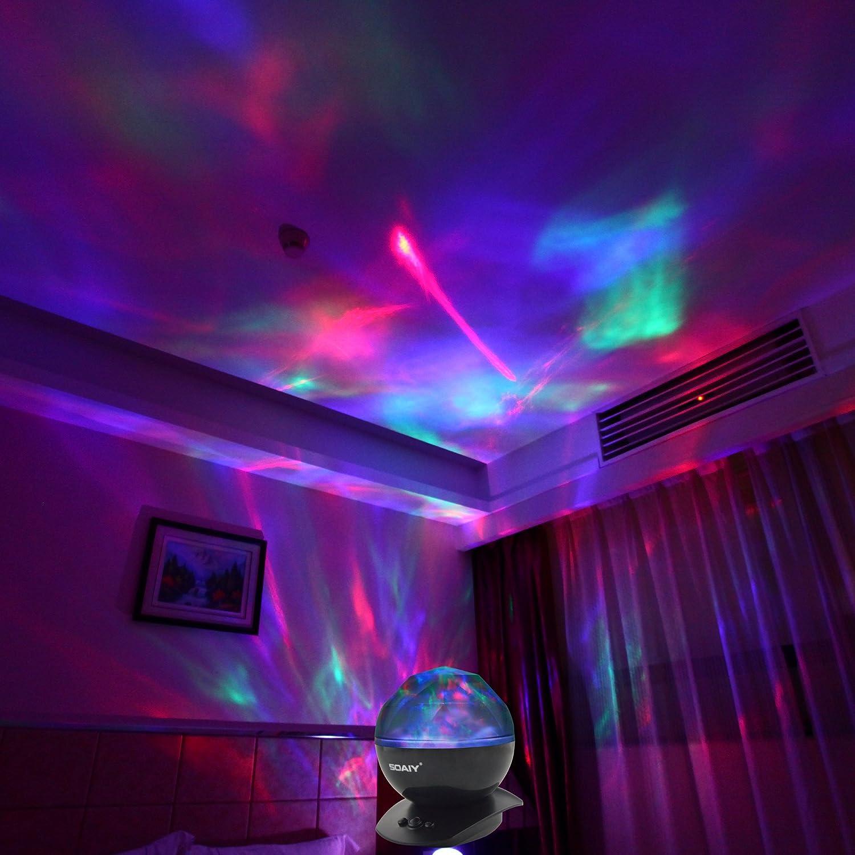 SOAIY color cambiado de lámpara que puede mostrar aurora borealis ...