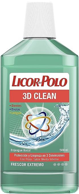 Licor del Polo - Enjuague Bucal 3D Clean - 12 uds de 500ml: Amazon ...