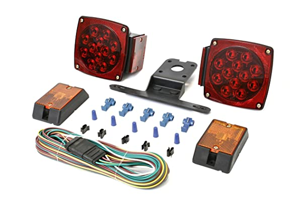 81NRz57W lL._SX608_ amazon com maxxhaul 70205 12v led trailer light kit automotive Trailer Hitch Wiring Harness at gsmx.co