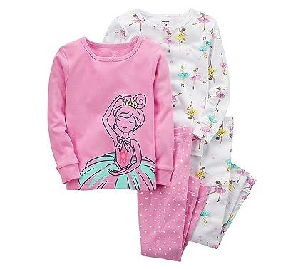 fd144ba2e Carter s Girls  2T-16 4-Pc. Ballerina Snug Fit Cotton Pajamas 9 ...