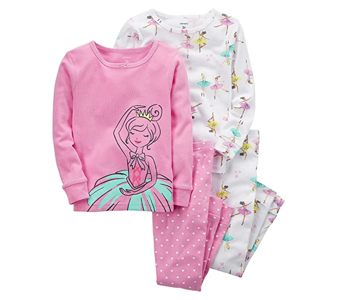 ea289dd33c3d Amazon.com  Carter s Girls  2T-16 4-Pc. Ballerina Snug Fit Cotton ...