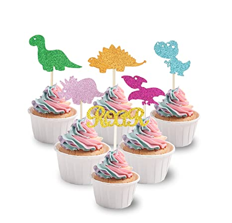 Dinosaur Roar {Triceratops} Edible Cupcake Toppers Decoration