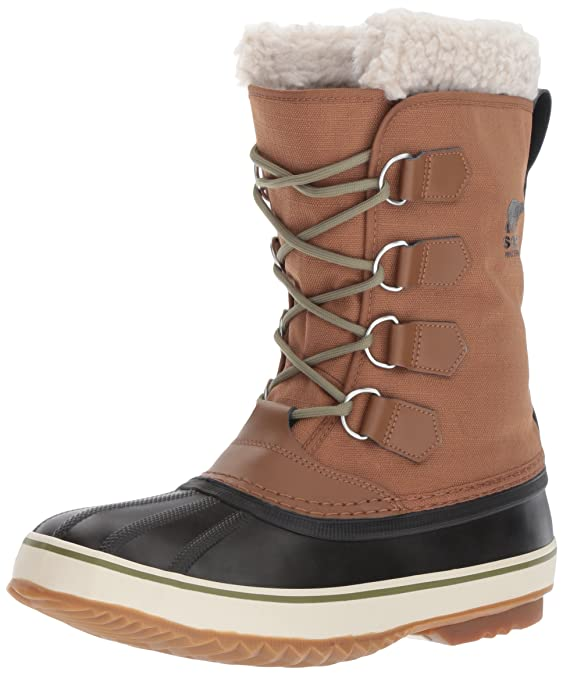 Sorel Men's 1964 PAC Nylon-M Snow Boot, Nutmeg/Black, 10 D US best men's snowboots