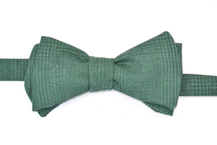 Handgenähte Herren Anzug - Fliege grün/Schleife zum Selbstbinden ...