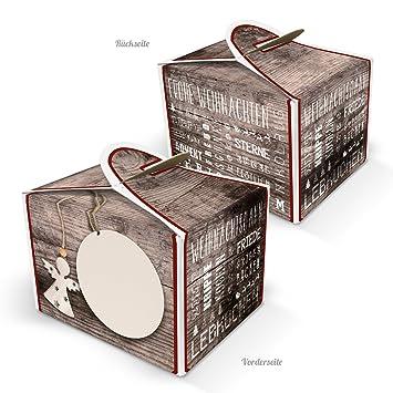 Weihnachtsgebäck Verpacken.Amazon De 10 Kleine Verpackung Schachtel Weihnachten Engel Mini