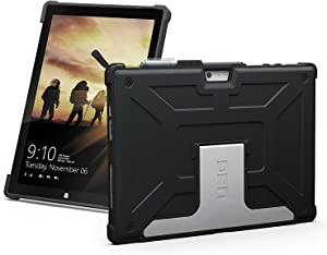 URBAN ARMOR GEAR UAG Microsoft Surface Pro 6/Surface Pro 5th Gen (2017)/Surface Pro 4 Feather-Light Rugged [Black] Aluminum Stand Military Drop Tested Case, Also Compatible with Surface Pro 7