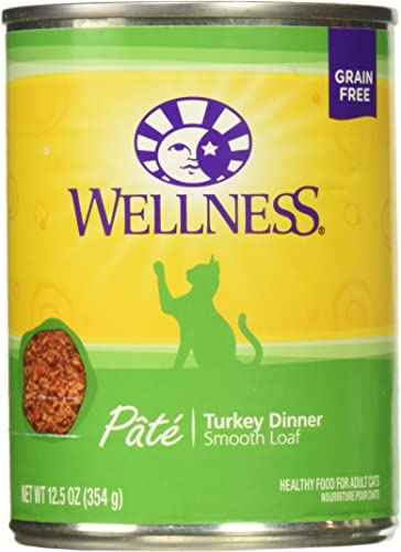 Wellness Complete Health Turkey Dinner Pate For Cats, 12.5 Ounce Can, Pack Of 12
