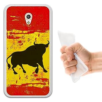 WoowCase Funda Vodafone Smart Prime 7, [Vodafone Smart Prime 7 ] Funda Silicona Gel Flexible Bandera España y Toro, Carcasa Case TPU Silicona - ...