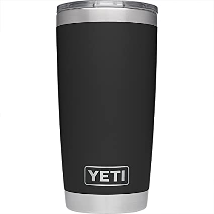 2caa8b26fc5 YETI Rambler 20 oz Stainless Steel Vacuum Insulated Tumbler with Lid, Black