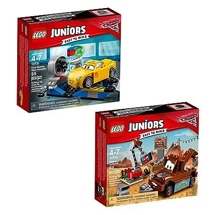 Amazon Com Lego Juniors Cars 2 66574 Building Kit 121 Piece Toys