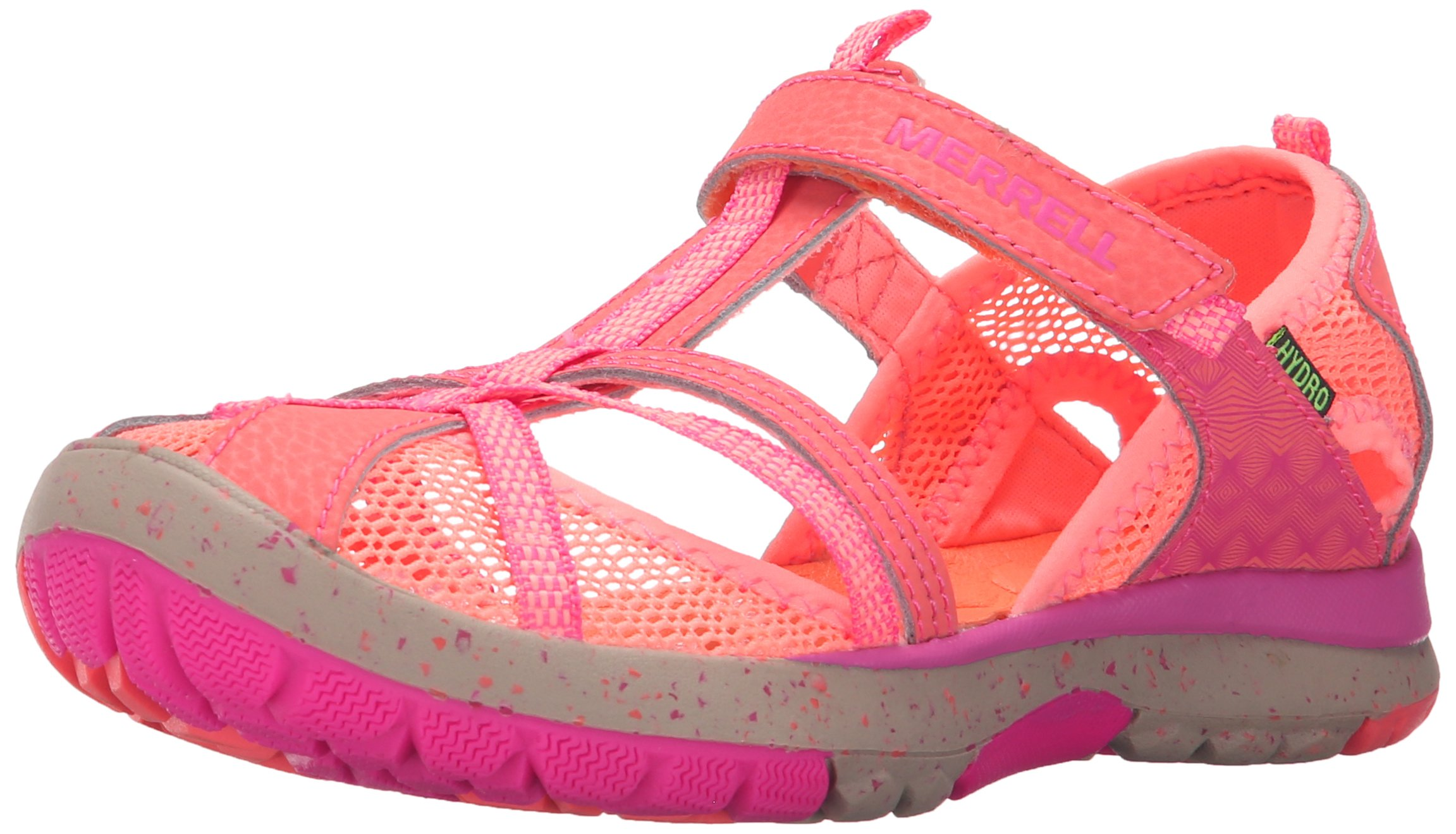 Merrell Hydro Monarch Water Sandal (Toddler/Little Kid/Big Kid), Coral, 11 W US Little Kid