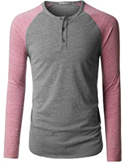 9b9ed06794e LE3NO Premium Mens Tri-Blend Short Sleeve Henley Shirt With Button ...