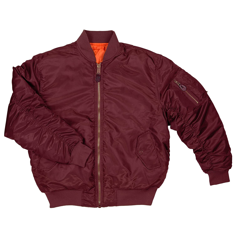Amazon.com  Men s MA-1 Reversible Flight Bomber Pilot Jacket  Clothing bced72e1ec6