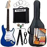 Rocktile Banger's Pack Komplettset E-Gitarre Blau (Verstärker, Tremolo, Tasche, Kabel, Gurt, Plecs, Ersatzsaiten und Schule mit CD/DVD)