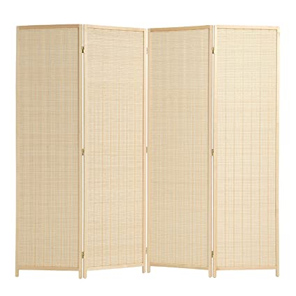 Amazoncom RHF Freestanding Bamboo 4 Panel Double Hinged Room