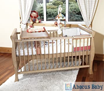Walnut PENELOPE COT BED//TODDLER BED /& DELUXE SPRUNG MATTRESS /& CHANGER