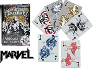 Marvel Extreme Playing Cards ~ Featuring ~ Thor, Iron Man, Captain America, Incredible Hulk, Silver Surfer and More!