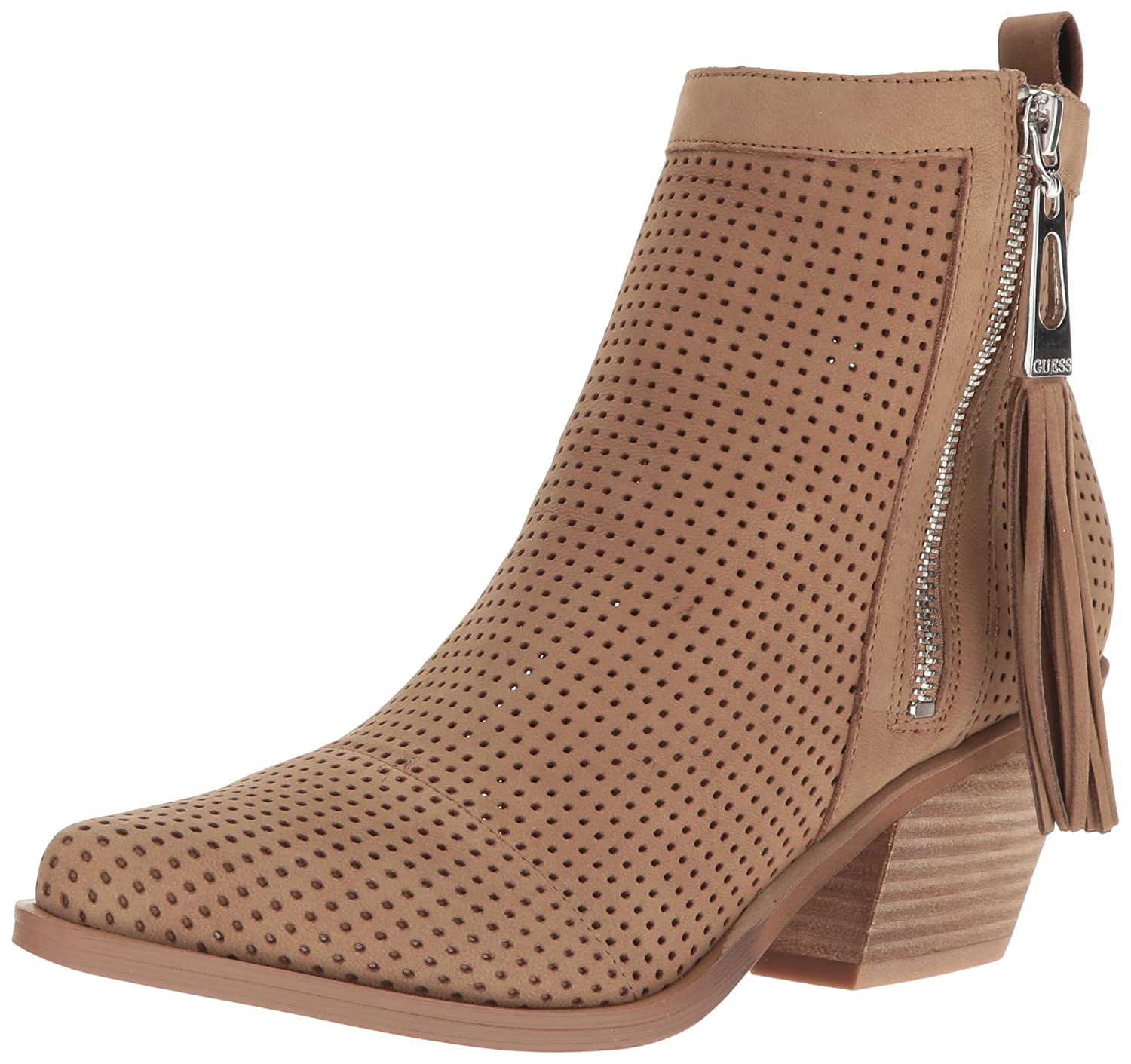 GUESS Women's Talzay Ankle Bootie Taupe