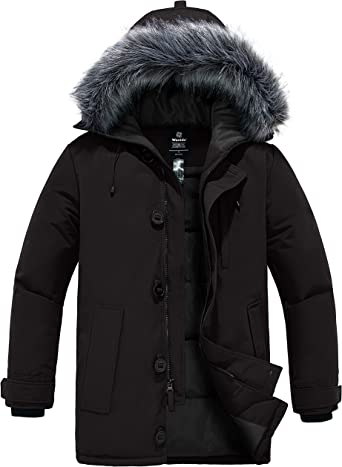 Beige-S Mens Down Jacket,Winter Coats,Thick Padded Parka Heavy Weight Overcoat Most Wished /&Gift Ideas