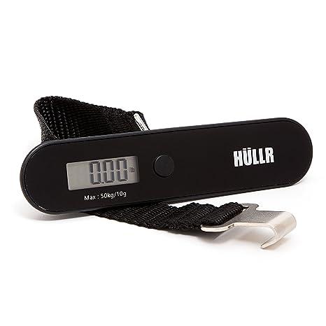 HULLR Báscula portátil digital para medir el equipaje de viaje Negro