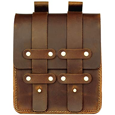 73009366a1a5 LXFF Mens Genuine Leather Belt Pouch Fanny Pack Waist Bag Bum Bags for Men  Vintage Brown