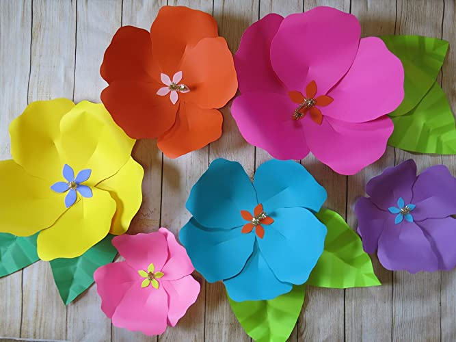 Amazon Tropical Giant Paper Flowers Fully Assembled Big Paper