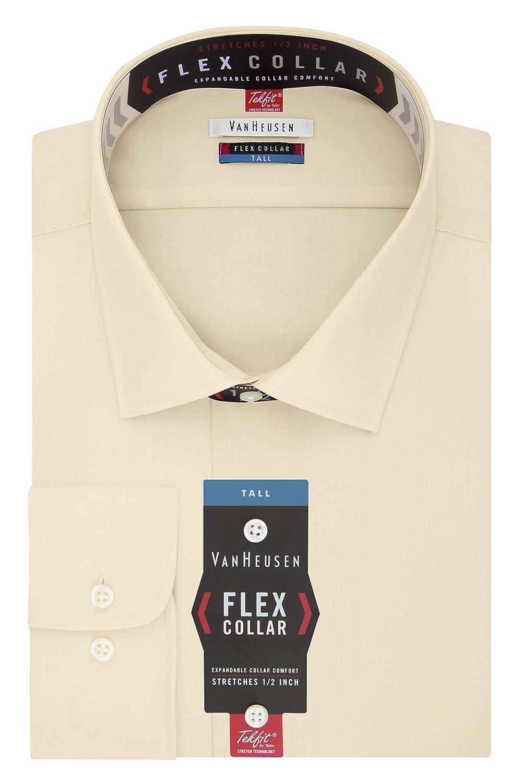 Toile 51 cm cou 89 cm- 91 cm hommeches Van Heusen Big and Robe Shirts Tall Fit Flex Solid Chemise habillée Homme