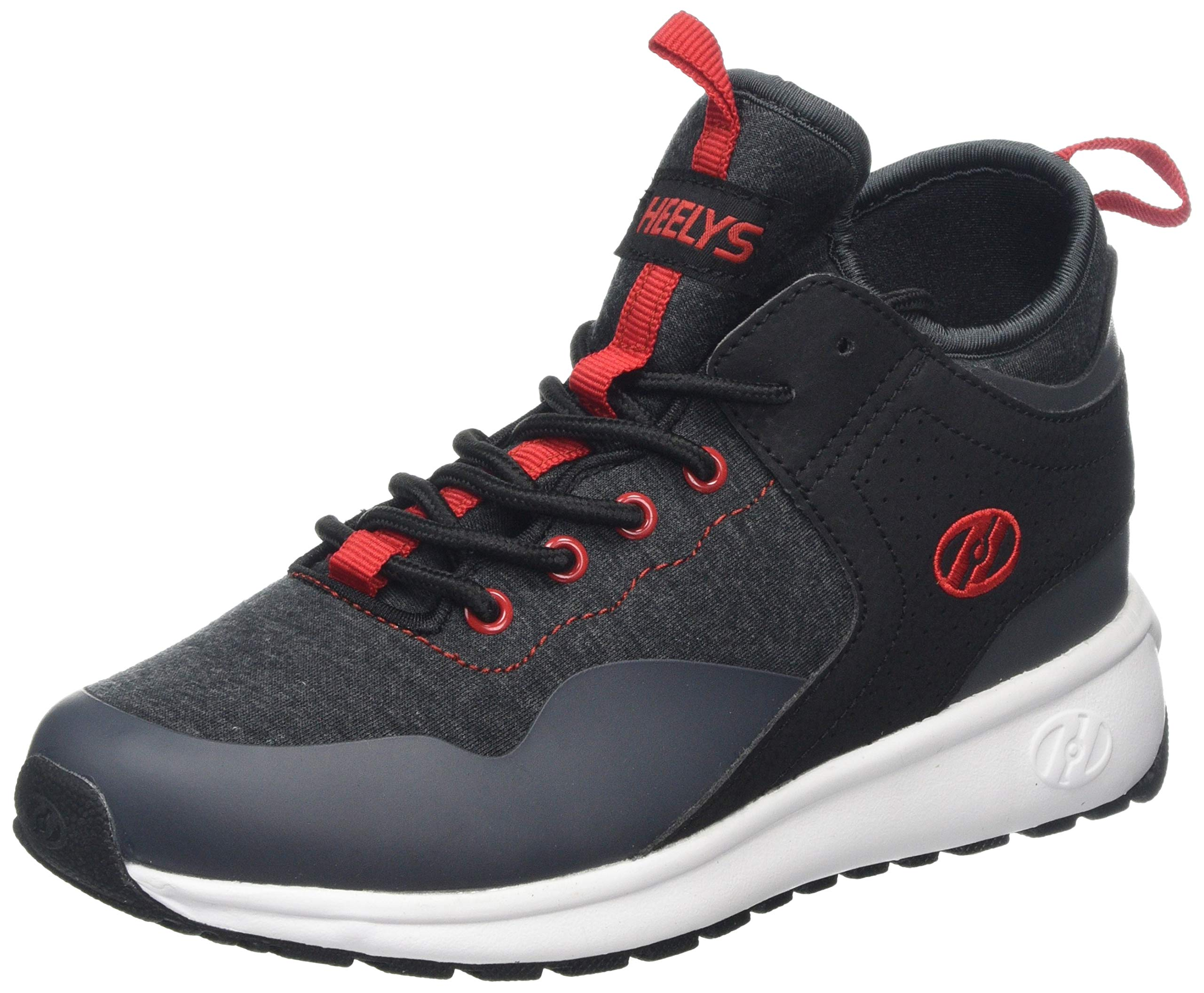 Heelys Boys' Piper Tennis Shoe Black Heathered/Red 3 M US Big Kid by Heelys (Image #1)