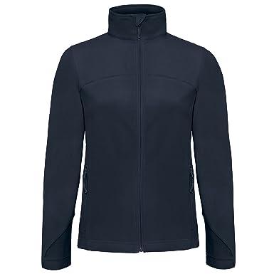 B&C Damen Fleece-Jacke Coolstar, durchgehender Reißverschluss (XS) ( Marineblau)