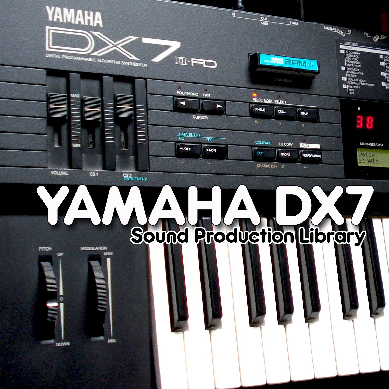 YAMAHA DX7 - King of 80`s - Large unique original WAVE/Kontakt Multi-Layer Samples Library on DVD or download by SoundLoad