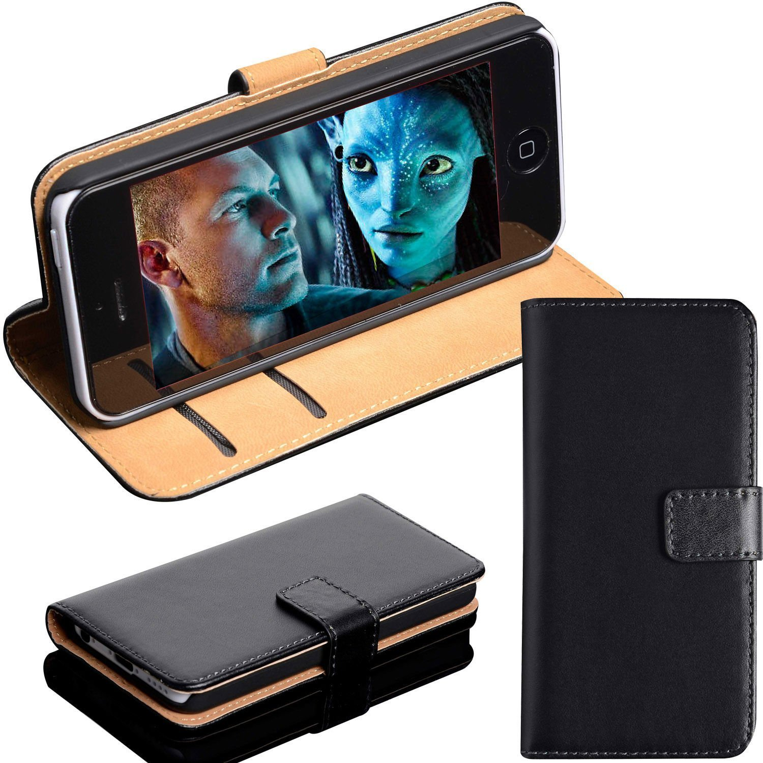 MobileConnect4U Real Leather iPhone 7 Wallet Case