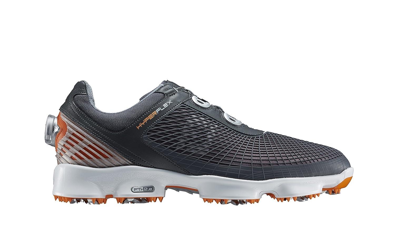 [フットジョイ] FootJoy ゴルフシューズ HYPERFLEXBoa B00SC2PDQY 26.5 cm 2E グレー/オレンジ