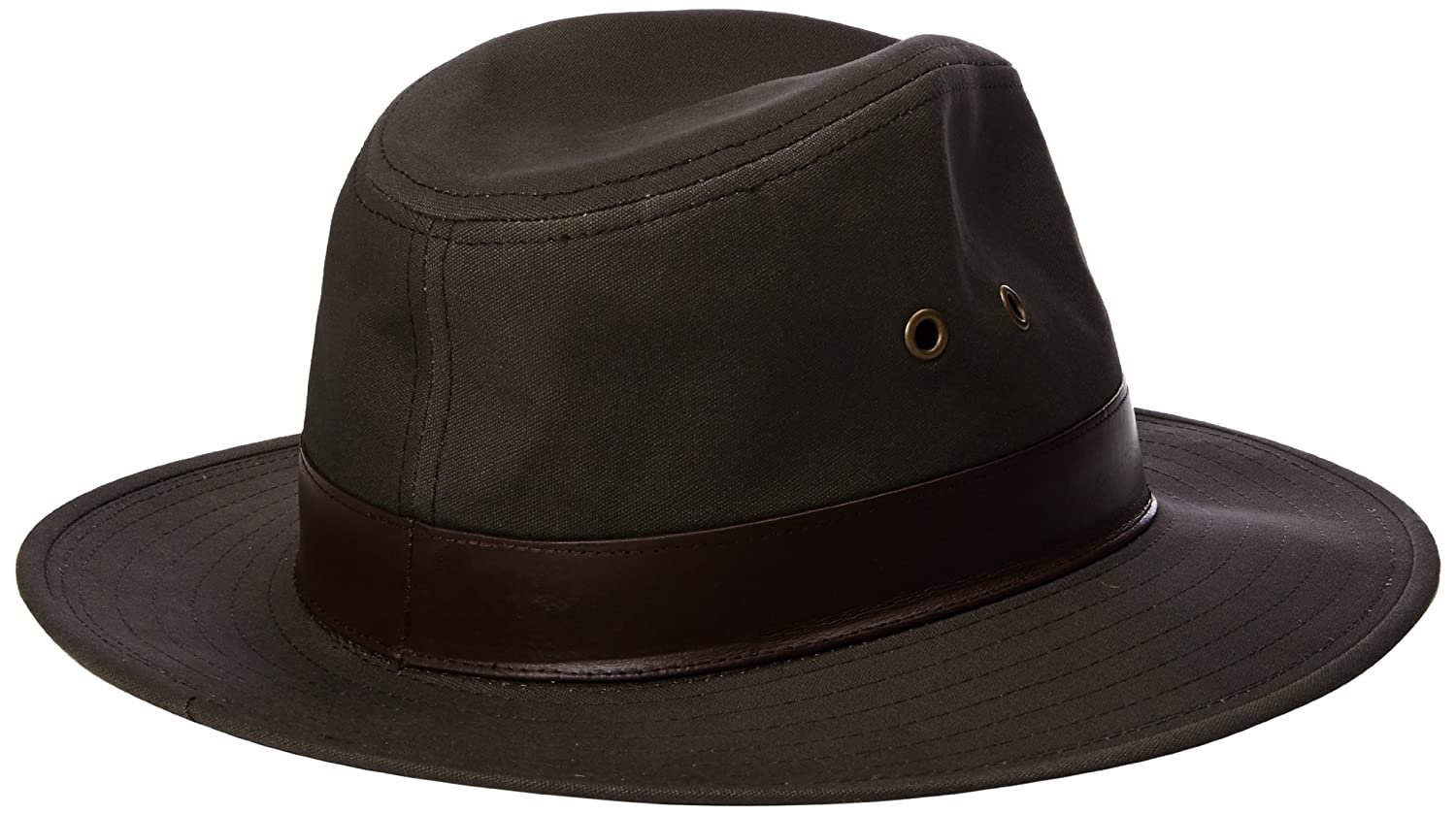 1859a984 Henschel Mens Outback Leather Hat