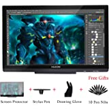Huion GT-220 V2 Black Graphics Drawing Monitor with 8192 Pen Pressure 21.5 Inch HD(1920x1080) IPS Pen Display for Windows and Mac