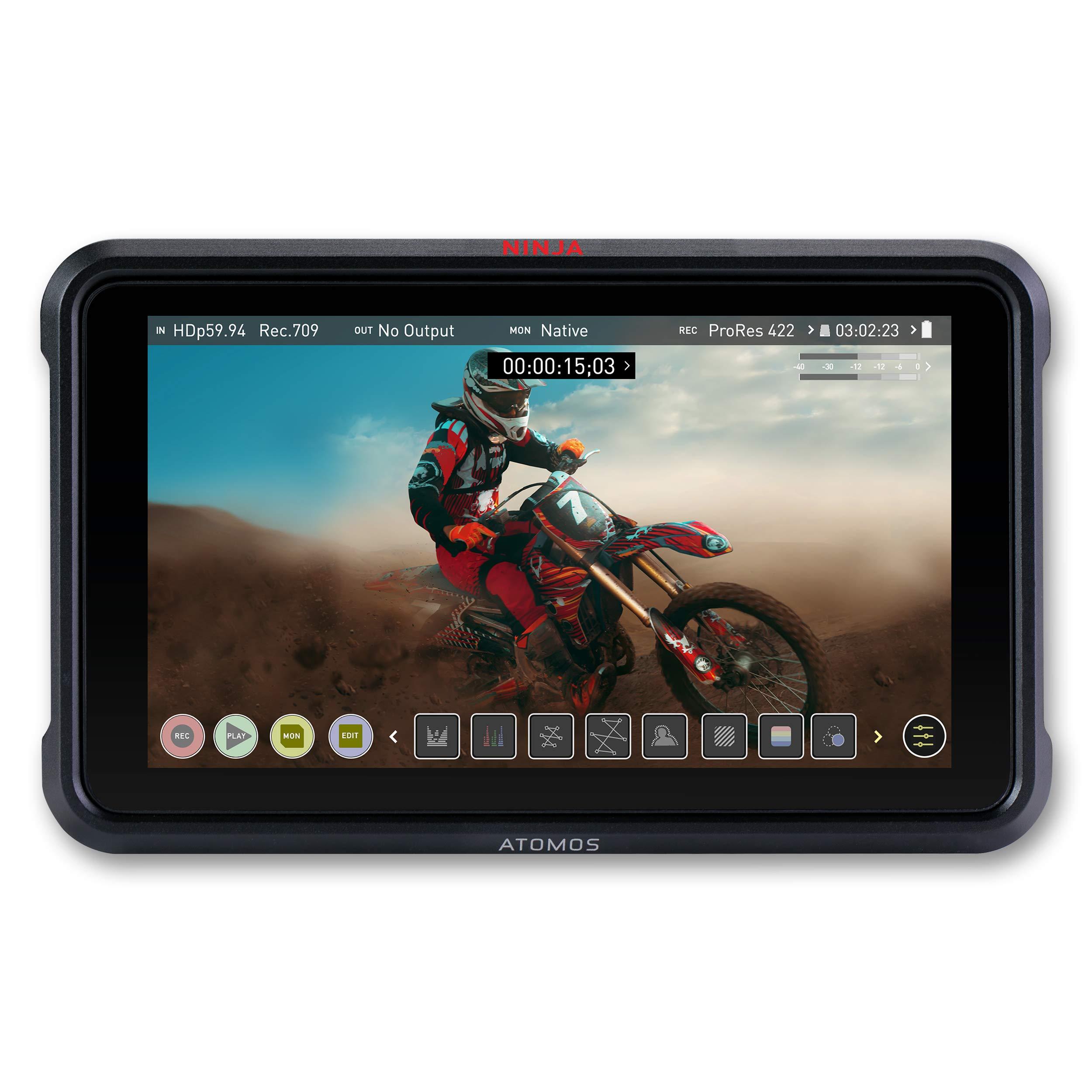 Atomos Ninja V Atomos Ninja V 4Kp60 10bit HDR Daylight Viewable 1000nit Portable Monitor/Recorder ATOMNJAV01 by Atomos