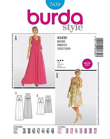 Burda Schnittmuster 7630 Umstandsmode Kleid Gr.36-48: Amazon.de ...