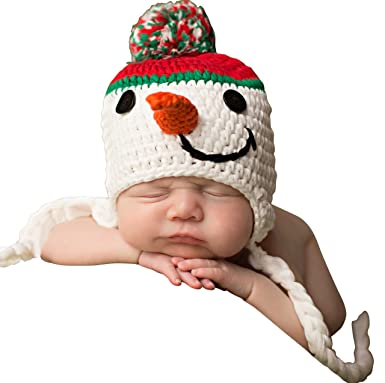 bfb6227ac Melondipity Boys Sweet Snowman Baby Hat - Holiday Winter Crochet Beanie