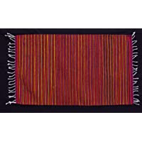 Apapashop artesanía tradicional mexicana tapete de lana cardada, hilada, lavada y tejida a mano en telar de pedal teñido con tintes naturales 100 x 60 cm