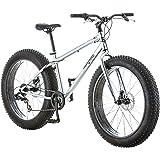 Mongoose Malus Adult Fat Tire Mountain Bike, 26-Inch Wheels, 7-Speed, Twist Shifters, Steel Frame, Mechanical Disc…
