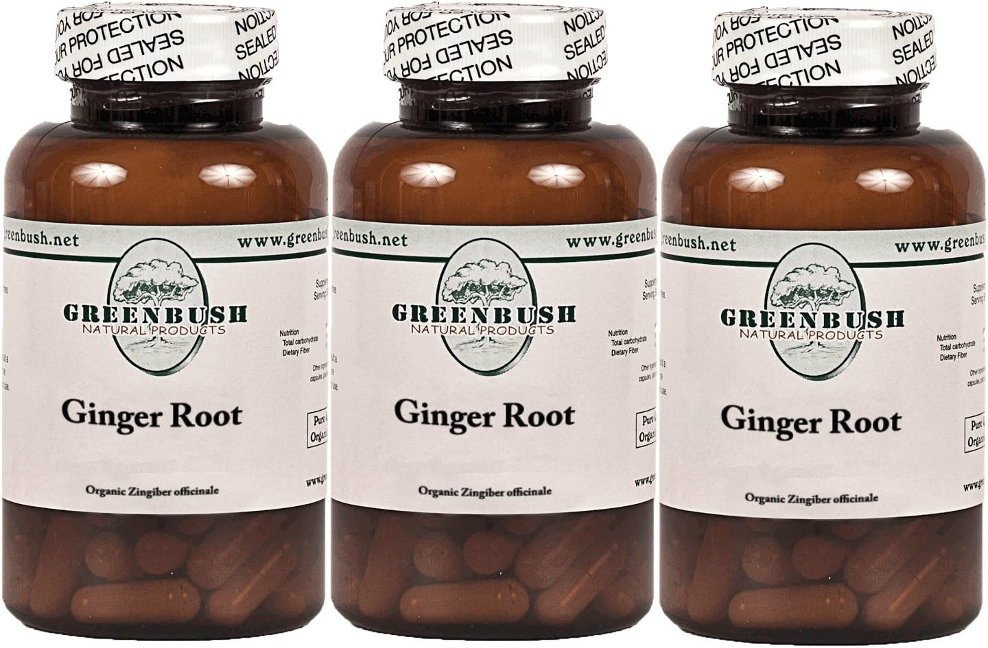 3 Bottle Pack Organic Ginger Root 100 Vegetarian Capsules 575mg. Pure No Fillers. Gingerol Super Antioxidant Anti-inflammatory. Many Health Benefits. Top Quality and Potency. Free Shipping