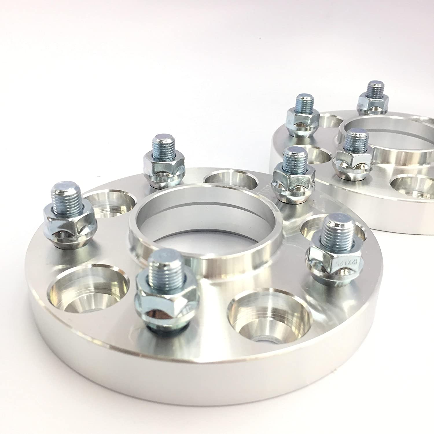 4 Pieces 1 25mm Hub Centric Wheel Spacers Adapters Bolt Pattern 5x108 Center Bore 63.4mm Fits Jaguar Ford