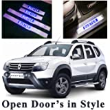 Harsheen Sales Premium Quality Car Door LED Sill Scuff Plate Foot Steps For Renault Duster