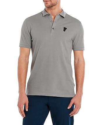Versace Collection Men s Grey Cotton Medusa Polo Piqué Shirt - Grey ... dee34aba32c6